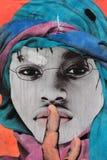 Kleurrijke straatkunst in NYC Stock Foto