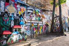 Kleurrijke straatkunst van graffiti royalty-vrije stock afbeelding