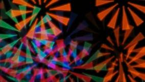 Kleurrijke stralen stock video