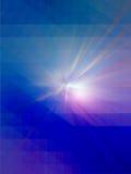 Kleurrijke stralen van lichte, abstracte uitbarstingsachtergrond Stock Foto's