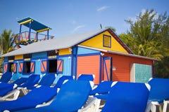 Kleurrijke strandhut Royalty-vrije Stock Foto