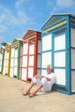 Kleurrijke strandhutten in de zomer Royalty-vrije Stock Foto