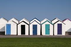 De Hutten van het strand in Paignton, Devon, het UK. Royalty-vrije Stock Fotografie