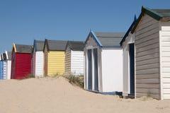 Kleurrijke Strandhutten in Southwold, Suffolk, U Stock Afbeeldingen