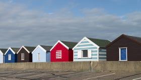 Kleurrijke Strandhutten in Southwold, Suffolk, U Stock Afbeelding