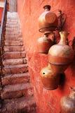 Kleurrijke straten van Arequipa - Peru. Royalty-vrije Stock Afbeeldingen
