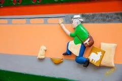 Kleurrijke straten van Guatape-stad in Colombia Royalty-vrije Stock Afbeelding