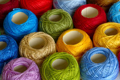Kleurrijke strengen Stock Foto's