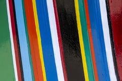 Kleurrijke strepen van kleuren Stock Foto's