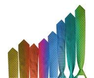 Kleurrijke stropdas bedrijfsgrafiek Stock Foto's