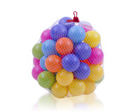 Kleurrijke stuk speelgoed ballen stock fotografie