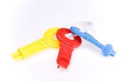 Kleurrijke stuk speelgoed sleutels Stock Fotografie
