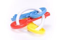 Kleurrijke stuk speelgoed sleutels Stock Afbeeldingen