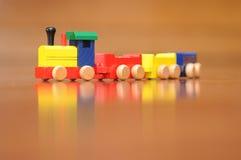 Kleurrijke stuk speelgoed trein Stock Afbeeldingen