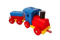 Kleurrijke stuk speelgoed trein Stock Afbeelding