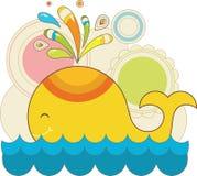 Kleurrijke stuk speelgoed walvis Royalty-vrije Stock Fotografie