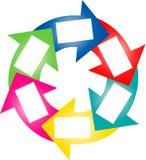 Kleurrijke succescirkel - Uw Tekst hier Royalty-vrije Stock Foto's