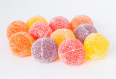 Kleurrijke suikerachtige snoepjes Stock Afbeelding