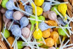 Kleurrijke suikergoedlolly Royalty-vrije Stock Foto
