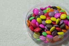 Kleurrijke suikergoedregenboog Stock Foto's
