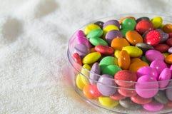 Kleurrijke suikergoedregenboog Stock Afbeeldingen