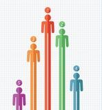 Kleurrijke symbolen van mensen Stock Foto