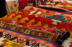 Kleurrijke tapijten Stock Fotografie