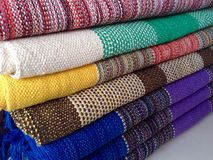Kleurrijke tapijten Royalty-vrije Stock Foto's