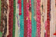 kleurrijke tapijttextuur Achtergrond van $c-andalusisch tapijt Jarapa Royalty-vrije Stock Afbeeldingen