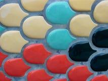 Kleurrijke Tegel in Cement stock fotografie