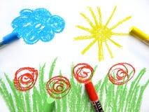Kleurrijke tekening Royalty-vrije Stock Afbeelding