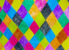 Kleurrijke tekening als achtergrond met Kleurpotlood Royalty-vrije Stock Afbeeldingen
