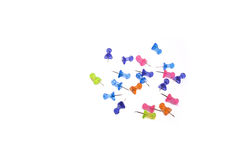 Kleurrijke tekening-spelden Stock Foto's