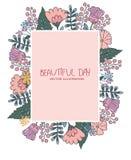 Kleurrijke tekening van bloemen Royalty-vrije Stock Fotografie