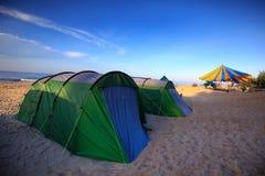 Kleurrijke tenten Royalty-vrije Stock Foto's