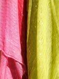 Kleurrijke textiel abstracte textuur Royalty-vrije Stock Afbeeldingen