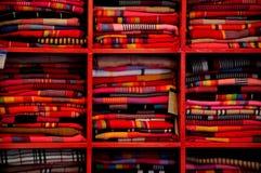Kleurrijke textiel in yunnan lijiang Royalty-vrije Stock Foto's