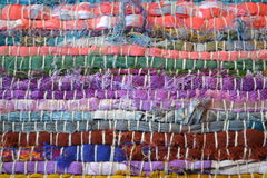 Kleurrijke textielstrepen Royalty-vrije Stock Fotografie