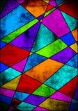 Kleurrijke textuur - gebrandschilderd glastextuur vector illustratie