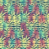 Kleurrijke textuur met hand getrokken bladeren Stock Afbeeldingen