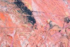 Kleurrijke textuur van een geweven geschilderde muur stock afbeelding