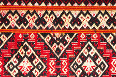 Kleurrijke Thaise omhoog dichte de dekenoppervlakte van de zijde handcraft Peruviaanse stijl meer dit motief & meer mooie backgro Stock Afbeeldingen