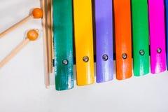 Kleurrijke Thaise traditionele xylofoon Royalty-vrije Stock Fotografie