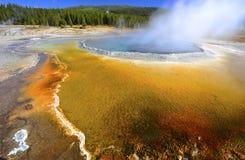 Kleurrijke thermische poolgeiser, yellowstone nationaal park, de V.S. Royalty-vrije Stock Afbeeldingen