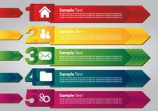 Kleurrijke toespraak textbox malplaatjes Stock Fotografie