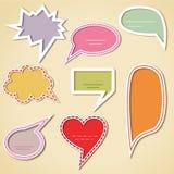 Kleurrijke toespraakbellen Stock Foto