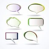 Kleurrijke toespraakbellen vector illustratie