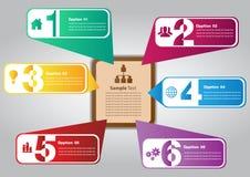 Kleurrijke toespraakmalplaatjes voor tekst Stock Foto's