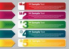 Kleurrijke toespraakmalplaatjes voor tekst Royalty-vrije Stock Foto's