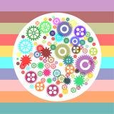 Kleurrijke toestelwielen Royalty-vrije Stock Foto